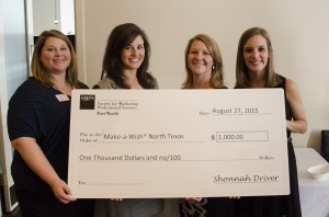 $1,000 donation to Make-A-Wish® North Texas